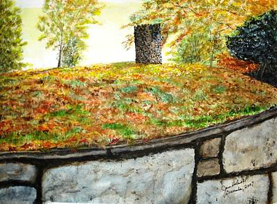 Fall Comes To Hastings Tower Art Print by June Holwell