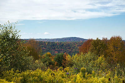 Fall Country Hill Art Print by Christina Rollo