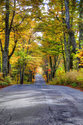 Walk Photograph - Fall Country Road by Donna Doherty