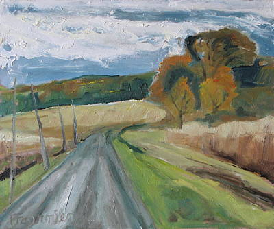 Fall Country Road  Art Print by Francois Fournier