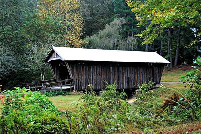 Photograph - Fall Covered Bridge by Beverly Hammond