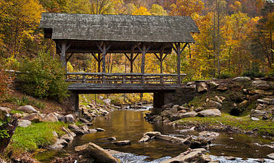 Fall Covered Bridge Art Print