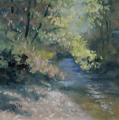 Painting - Fall Creek by Linda Eades Blackburn