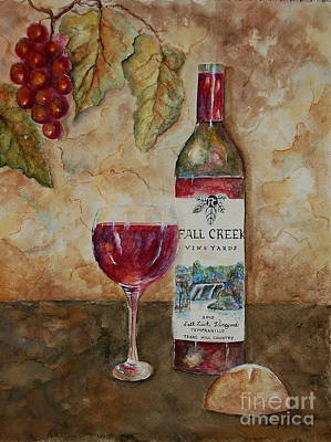 Painting - Fall Creek Vineyards by Tamyra Crossley
