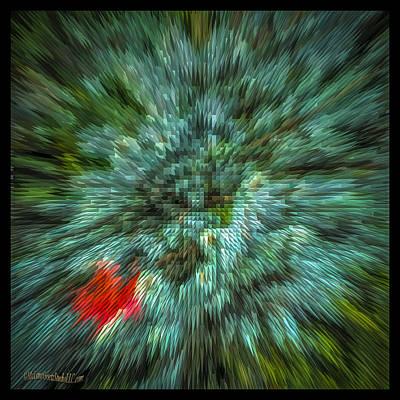Photograph - Fall Cross Stitch Abstract by LeeAnn McLaneGoetz McLaneGoetzStudioLLCcom