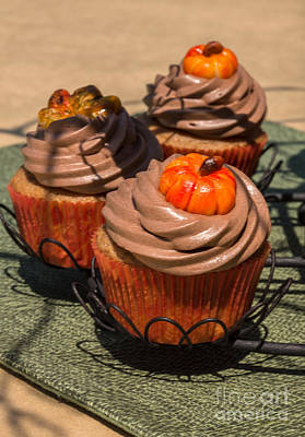 Fall Cupcakes Art Print by Iris Richardson
