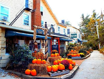 Blowing Rock Nc Photograph - Fall Decorations At The Store by Cindy Croal