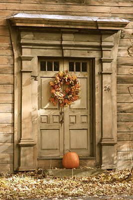 Traditional Fall Decor In New England Art Print