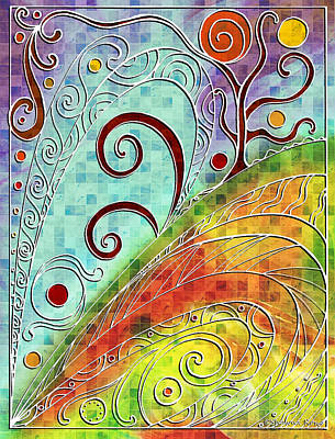 Drawing - Fall Equinox by Shawna Rowe