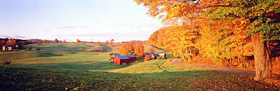 Fall Farm Vt Usa Art Print by Panoramic Images