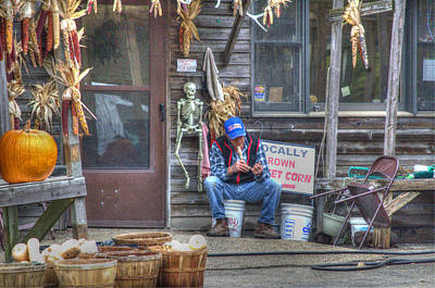 Photograph - Fall Farmer's Market by Jim Shackett