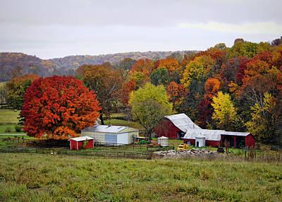 Photograph - Fall Farmstead by Cricket Hackmann