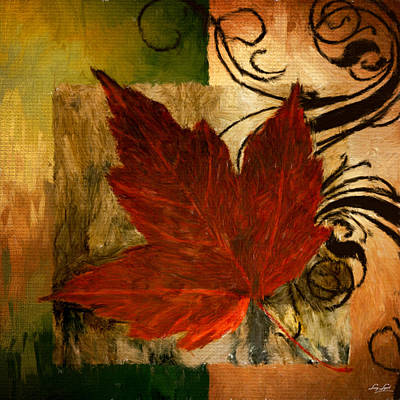 Maple Leaf Art Digital Art - Fall Festiveness by Lourry Legarde