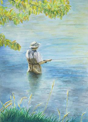 Fall Fisher Original by Arthur Fix