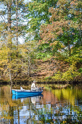 Art Print featuring the photograph Fishing Reflection by Debbie Green