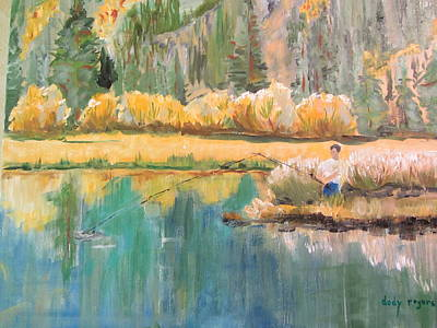 Painting - Fall Fishin by Dody Rogers