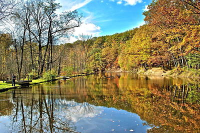 Fall Fishing Art Print by Frozen in Time Fine Art Photography