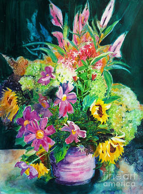 Fall Floral Sweetness Original by Kathy Braud