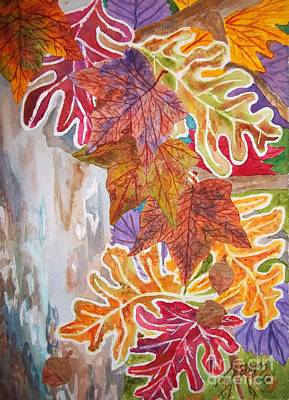 Painting - Fall Flurry by Ellen Levinson