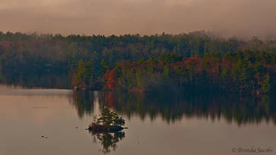 Photograph - Fall Fog On Melvin Bay by Brenda Jacobs