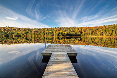 Photograph - Fall Foliage At The Lake by Pierre Leclerc Photography