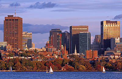 Charles River Photograph - Fall Foliage Colors Across Boston Beacon Hill by Juergen Roth