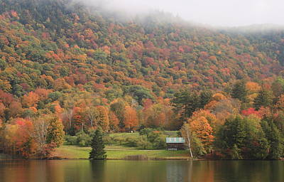 Photograph - Fall Foliage Green Mountains Vermont Route 100 by John Burk