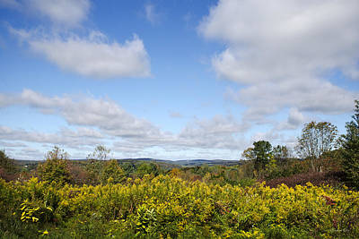 Photograph - Fall Foliage Hilltop Landscape by Christina Rollo