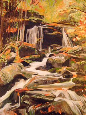 Painting - Fall Foliage In New England by Therese Legere