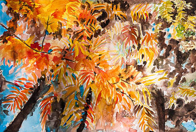 Painting - Fall Foliage by Lee Stockwell