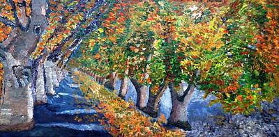 Painting - Fall Foliage  by Leslye Miller