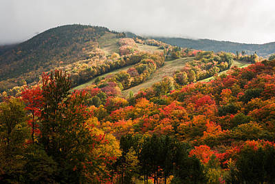 Fall Foliage On Canon Mountain Nh Art Print