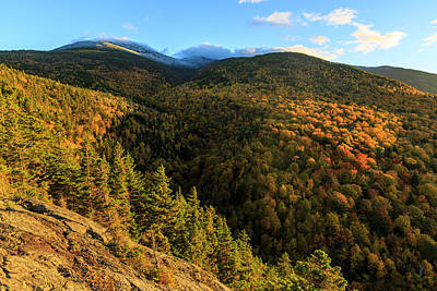 Outlook Photograph - Fall Foliage On Mount Madison In New by Jerry and Marcy Monkman
