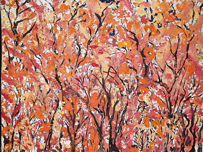 Painting - Fall Foliage Part 2 by Daniel Nadeau