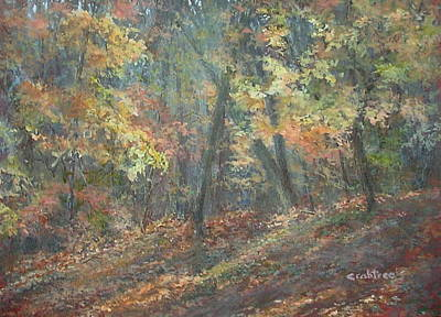 Painting - Fall Forest by Elizabeth Crabtree