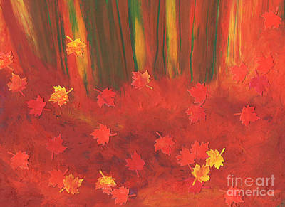 Fall Forest Floor By Jrr Original by First Star Art