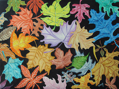 Painting - Fall by Gloria E Barreto-Rodriguez