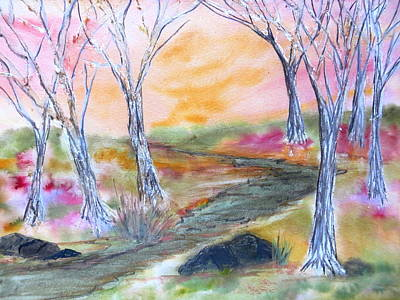 Painting - Fall Glow by Daniel Dubinsky