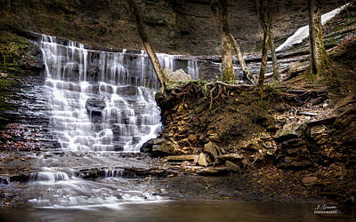 Fall Hollow Falls Natchez Trace Parkway Tennessee Art Print by Joe Granita