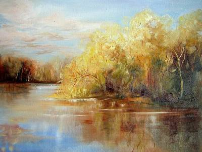 Painting - Fall Impression by Christa Friedl