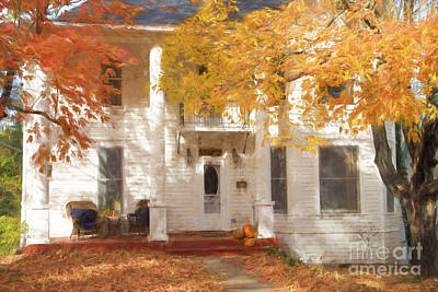 Eureka Springs Digital Art - Fall In Eureka Springs by Elena Nosyreva