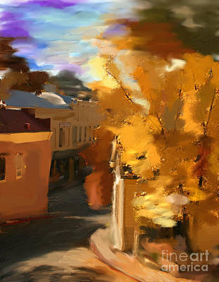 Digital Art - Fall In Nevada City by Lisa Redfern