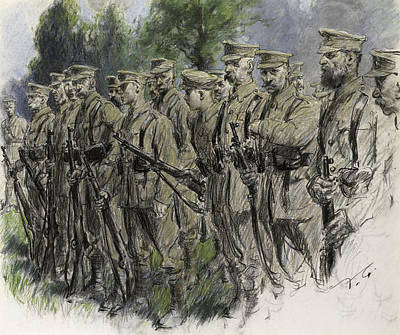 Norfolk Wall Art - Pastel - Fall In Norfolk Volunteers by Frank Gillett