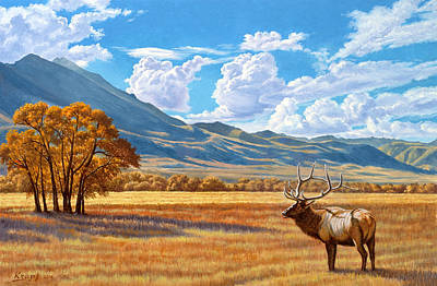Montana Painting - Fall In Paradise Valley by Paul Krapf