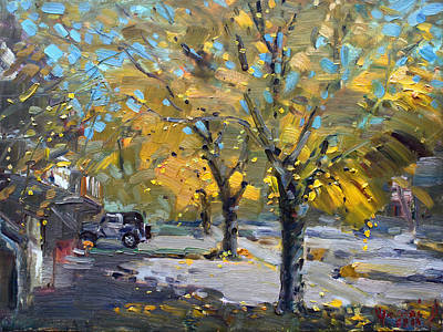 Canada Landscape Painting - Fall In Silverado Dr  by Ylli Haruni