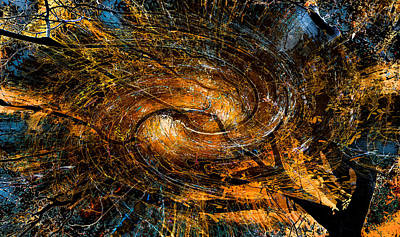 Photograph - Fall In The Abstract Vortex Dimension by Michael Arend
