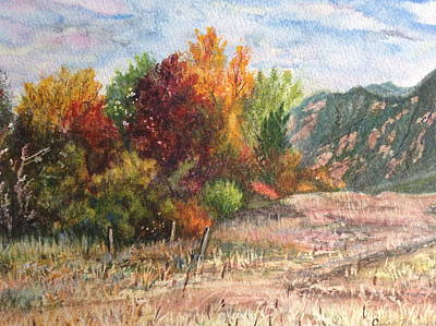 Painting - Fall In The Flatirons by Carol Warner