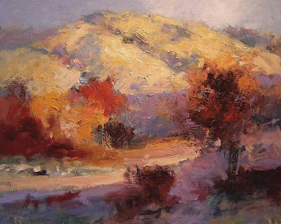 San Joaquin Painting - Fall In The Foothills II by R W Goetting