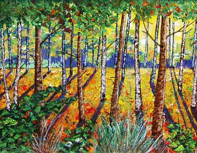 Fall In The Park Original by Ray Ratzlaff