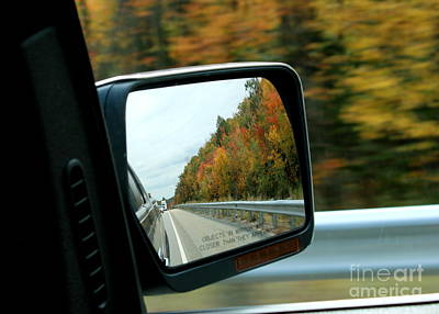 Fall In The Rearview Mirror Art Print